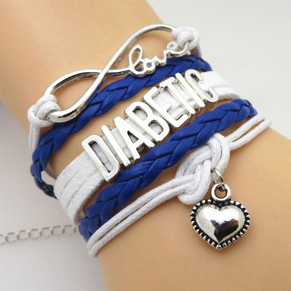 Diabetic Braided Bracelet